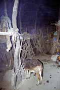 Inside traditional village house in Simien mountains. Ethiopia.